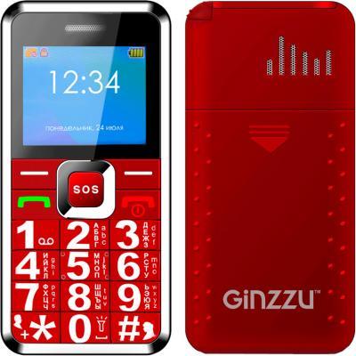 Мобильный телефон GINZZU MB505 красный