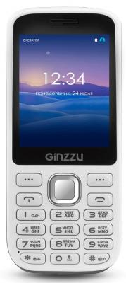 """где купить Мобильный телефон GINZZU M201 белый серый 2.4"""" по лучшей цене"""