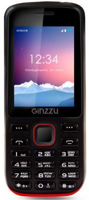 Мобильный телефон GINZZU M201 черный красный мобильный телефон ginzzu r1d красный