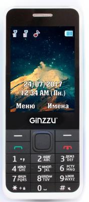 Мобильный телефон GINZZU M108D белый 2.8 мобильный телефон ginzzu r12 белый
