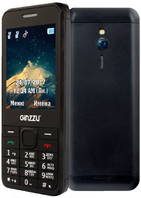 Мобильный телефон GINZZU M108D черный 2.8 мобильный телефон ginzzu mb501 красный