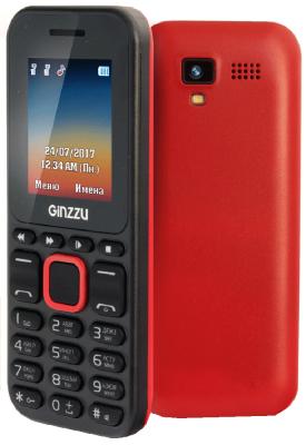 Телефон GINZZU M102D mini черный красный телефон