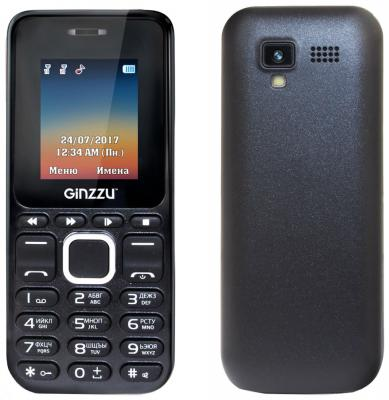 Телефон GINZZU M102D mini черный 1.8 мобильный телефон ginzzu mb501 красный