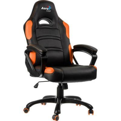 Картинка для Кресло компьютерное игровое Aerocool AC80C AIR-BO черно-оранжевый с перфорацией