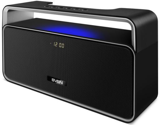 Портативная акустика Sven PS-185 10Вт Bluetooth черный портативная акустика sven ps 190 10вт bluetooth черный серебристый