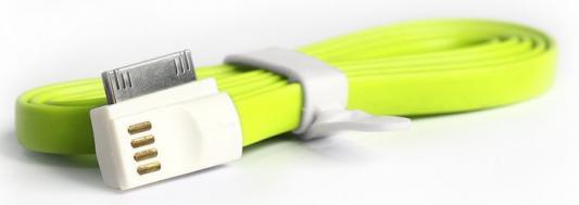 цена на Дата-кабель Smartbuy USB - 30-pin для Apple, магнитный, длина 1,2 м, зеленый (iK-412m green)/500