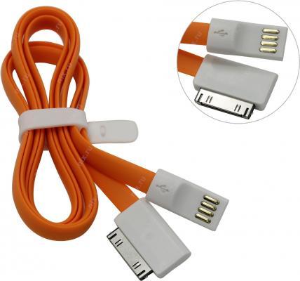 Дата-кабель Smartbuy USB - 30-pin для Apple, магнитный, длина 1,2 м, оранжевый (iK-412m orange)/500 smartbuy usb2 0 smart buy biz 8гб оранжевый пластик usb 2 0