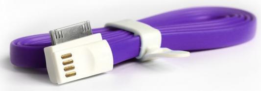 Дата-кабель Smartbuy USB - 30-pin для Apple, магнитный, длина 1,2 м, фиолетовый (iK-412m purple)/500