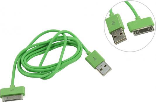 Дата-кабель Smartbuy USB - 30-pin для Apple, цветные, длина 1,2 м, зеленый (iK-412c green)/500