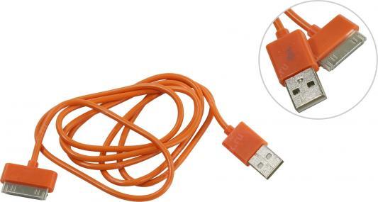 цена на Дата-кабель Smartbuy USB - 30-pin для Apple, цветные, длина 1,2 м, оранжевый (iK-412c orange)/500