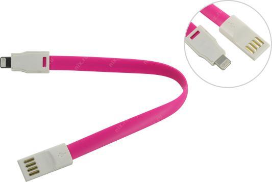 Дата-кабель Smartbuy USB - 8-pin для Apple, магнитный, длина 0,2 м, розовый (iK-502m pink)/500