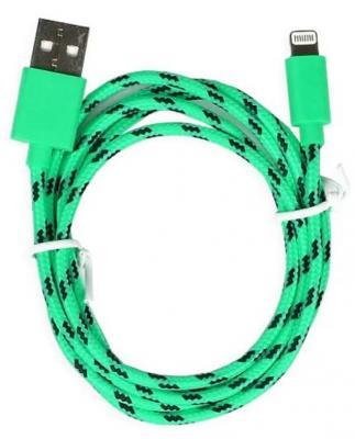 цена на Дата-кабель Smartbuy USB - 8-pin для Apple, нейлон, длина 1,2 м, зеленый (iK-512n green)/500