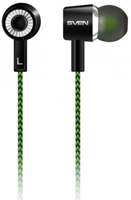 Наушники Sven E-107 черный зеленый наушники sven e 216b черный красный