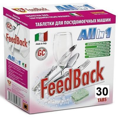 FeedBack Таблетки для посудомоечных машин ALL in 1 30 шт соль для посудомоечных машин snowter 1 5 кг