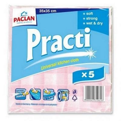 PACLAN Салфетка универсальная для сухой и влажной уборки Practi 33*35см 5шт. робот пылесос для сухой уборки lg vr6570lvmb