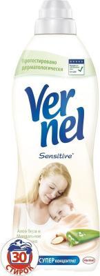 Кондиционер для белья Vernel Sensitive Алоэ вера и миндальное молочко 910мл 2203005 кондиционер для белья vernel вернель свежесть летнего утра 2000мл