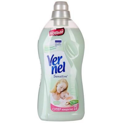 Кондиционер для белья Vernel Sensitive. Алоэ вера и миндальное молоко 1.82л 2202908 кондиционер для белья vernel свежесть летнего утра