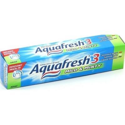 Зубная паста Aquafresh 3 Мягко-мятная 100 мл PNS7094600 aquafresh зубная щетка hd зубная паста отбеливающая aquafresh 75 мл