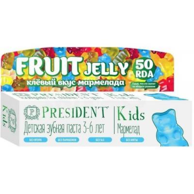 Зубная паста President Kids 3-6 Fruit Jelly 50 мл 4612729880281 зубная паста president sensitive объем 75 мл