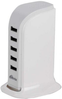 Сетевое зарядное устройство Ritmix RM-5055AC 5 х USB 5.8A белый