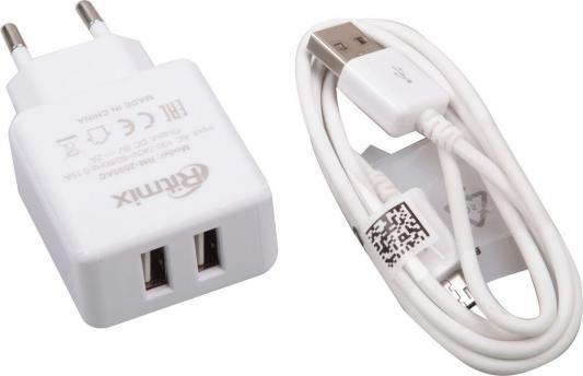 цена на Сетевое зарядное устройство Ritmix RM-2095AC 2 х USB 2А белый