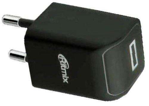 Сетевое зарядное устройство Ritmix RM-111 USB 1A черный
