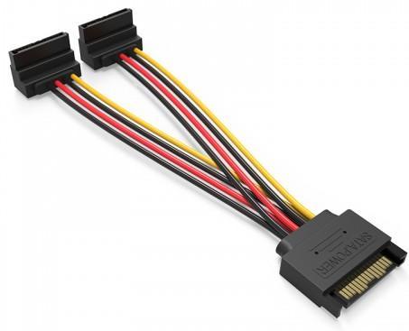 Кабель SATA - 2xSATA Vention KDBBB угол 90 кабель