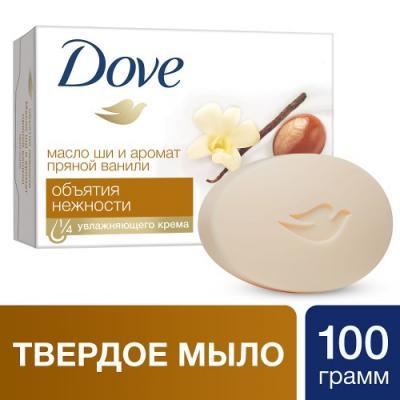Мыло твердое Dove Объятия нежности 100 гр 67069889 мыло твердое dove кокос 100 гр 67556982