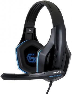Фото - Игровая гарнитура проводная Gembird MHS-G10 черный синий игровая гарнитура проводная gembird mhs g30 черный красный