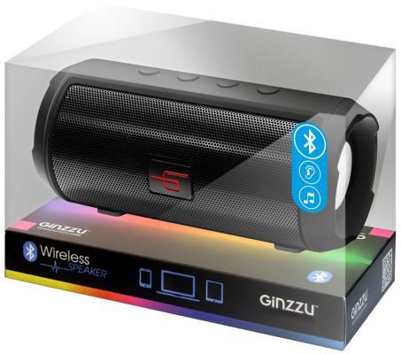 Портативная акустика Ginzzu GM-894B черный комплект ginzzu hs k07w