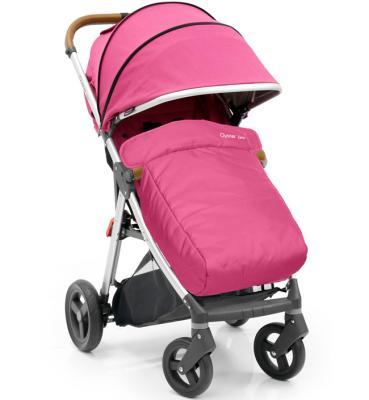 Прогулочная коляска с накидкой на ножки Oyster Zero (wow pink) коляска oyster прогулочная коляска oyster zero wow pink