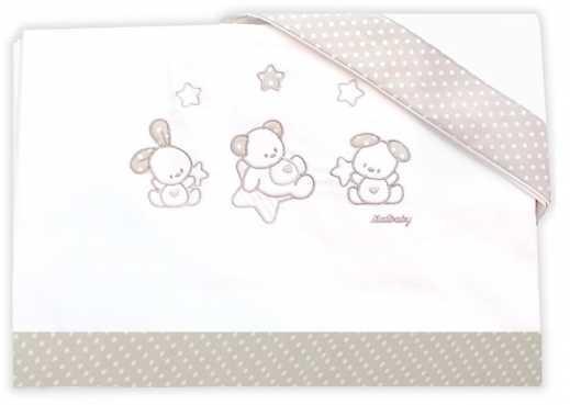 Сменное постельное белье 3 предмета Italbaby Sweet Star (крем/020.1130-0376) постельное белье anel baby star brown 2 предмета