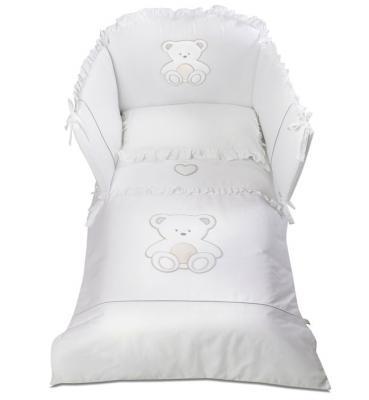 Постельный сет 5 предметов Italbaby Peluche (белый/100.0007-5) постельный сет italbaby teddy крем 100 0019 6
