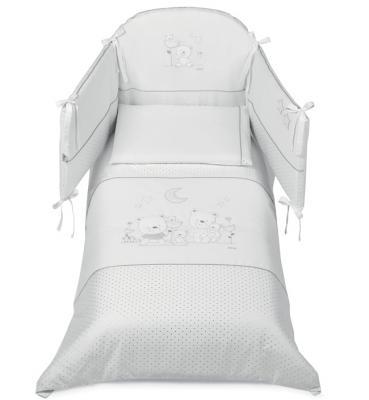 Постельный сет 5 предметов Italbaby Happy Family Style (белый/100,0054-52) постельный сет italbaby teddy крем 100 0019 6