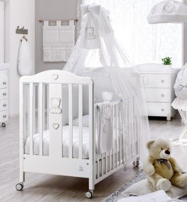 Кроватка Italbaby Amore (белый/070.0300-) italbaby плетеный ящик для игрушек amore italbaby белый