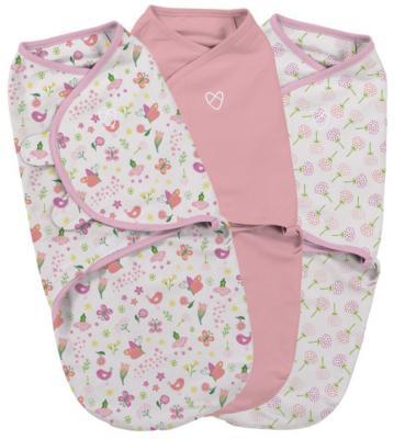 Купить Конверт на липучке 3 шт размер S/M Summer Infant Swaddleme (цветы-розовый бабочки/55966), для девочки, Конверты