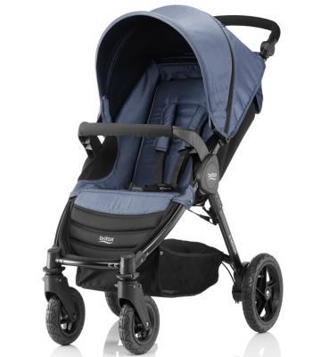 Купить Прогулочная коляска Britax B-Motion 4 (blue denim), синий, Прогулочные коляски