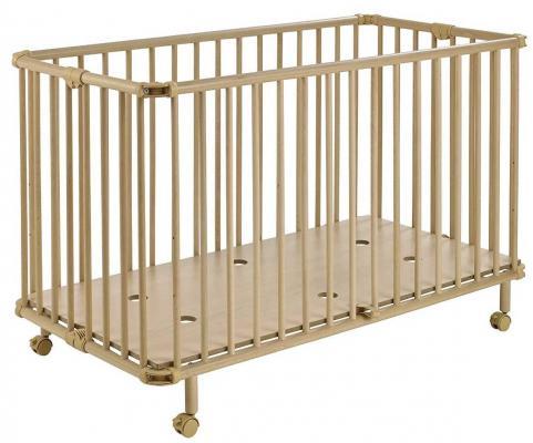 Купить Кроватка складная Geuther Mayla (натуральный), массив бука / МДФ, Кроватки без укачивания
