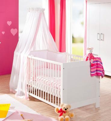 Кроватка Geuther Marlene (белый/серый) шкаф geuther шкаф geuther marlene трехсекционный серо белый