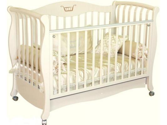 Кроватка-диван Красная Звезда Елизавета (корона/накладка 27/слоновая кость)