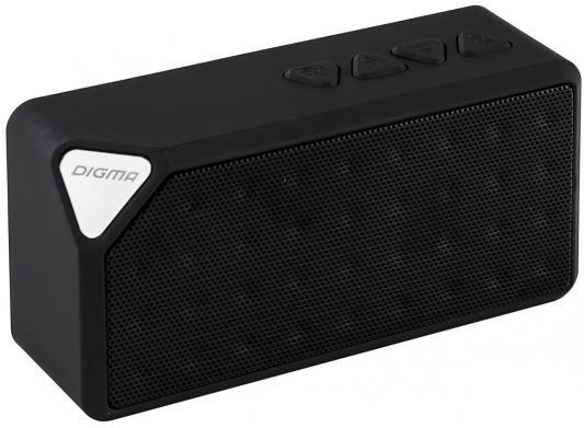 Портативная акустика Digma S-20 черный портативная акустика digma s 31 черный