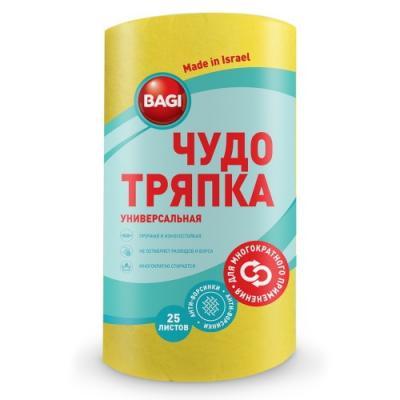 БАГИ Чудо Тряпка универсальная Standar цветная 21,5*25см 25шт в рулоне россия шк в ярославле 25 5
