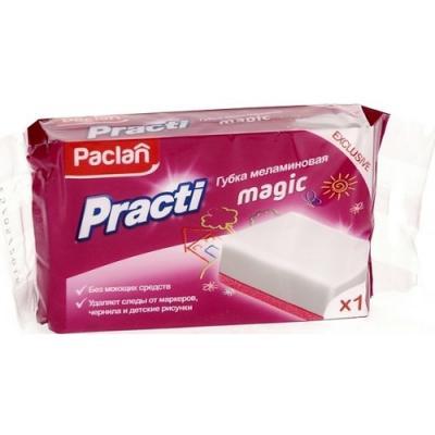Paclan Practi Magic Губка меламиновая 1 шт губка меламиновая фэйт бэлла цвет белый 2 шт