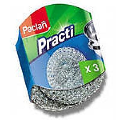 PACLAN Мочалки для посуды металические 3шт paclan подносы алюминиевые 35см 3шт