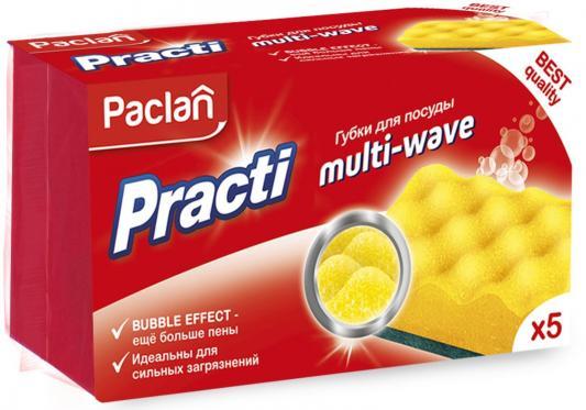 Paclan Practi Multi-Wave Губки для посуды 5 шт прокладка защитная для festool multi jetstream 150 мм 57 отв 5 шт mirka 8295611111