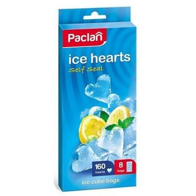 PACLAN Мешочки для льда сердечки 8х20шт
