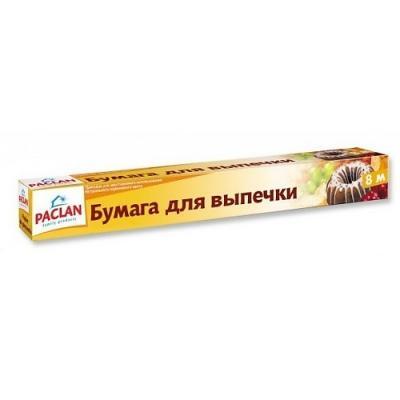 PACLAN Бумага для выпечки в коробке 8мх38см бумага для выпекания paclan beesmart 6 м