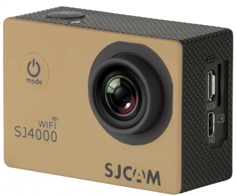 Экшн-камера SJCAM SJ4000 Wi-Fi 1xCMOS 3Mpix золотистый