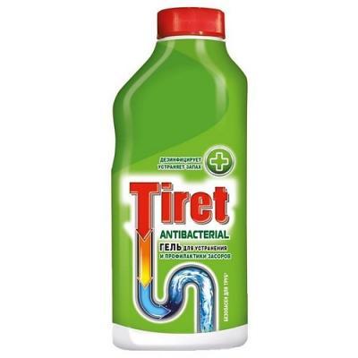 TIRET Antibacterial Гель для удаления и профилактики засоров 500мл гель для удаления засоров tiret professional 500 мл