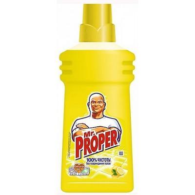 MR PROPER Моющая жидкость для уборки Лимон 750мл жидкость моющая mr proper мистер пропер лимон 0 5л
